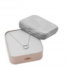 Fossil JFS00459040 Kette-Anhänger Damen Open Heart Sterling-Silber