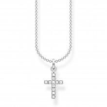Thomas Sabo KE2069-051-14 Halskette mit Anhänger Kreuz Pavé Silber