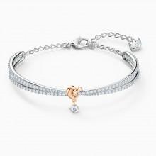 Swarovski 5516544 Armreif Damen Lifelong Heart Weiss Rosé Silber-Ton