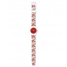 Swatch LW167 Armbanduhr Cerise Moi Quarz Silikon Armband Ø 25,00 mm