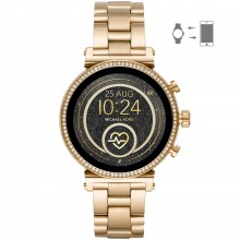 Michael Kors MKT5062 Smartwatch Damen Sofie Heart Rate mit Edelstahl-Band Ø 41 mm
