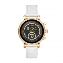 Michael Kors MKT5067 Smartwatch Damen Sofie Heart Rate mit Leder-Band Ø 41 mm
