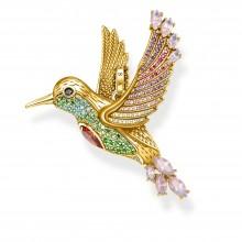 Thomas Sabo PE875-488-7 Ketten-Anhänger Bunter Kolibri Silber Vergoldet