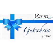 E-Geschenkkarte karat24.net per Post