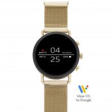 Skagen SKT5111 Smartwatch Falster 2 Gold mit Milanaise-Band Ø 40 mm