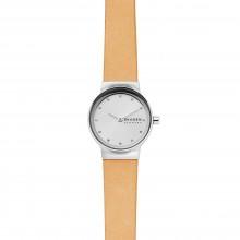 Skagen SKW2776 Damen-Uhr Freja Analog Quarz Leder-Band Silber Ø 26 mm