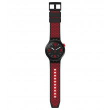 Swatch SO27B102 Armbanduhr BBBlood Quarz Silikon Armband Ø 47,00 mm