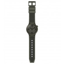 Swatch SO27B100 Armbanduhr BBBubbles Analog Quarz Silikon Armband Ø 47,00 mm