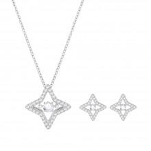 Swarovski 5349667 Set Kette & Ohrstecker Sparkling Dance Star Silber-Ton