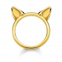 Thomas Sabo TR2260-413-39 Ring Damen Katzenohren Silber Gold
