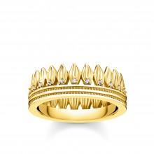 Thomas Sabo TR2282-414-14 Ring Damen Krone Blätter Silber Vergoldet