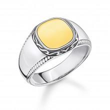 Thomas Sabo TR2292-966-39 Ring Herren Tiger Muster Silber Gold