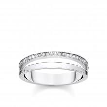 Thomas Sabo TR2316-051-14 Ring Damen Doppel Weiße Steine Silber