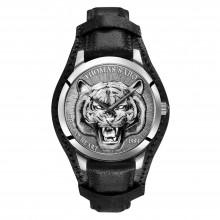 Thomas Sabo WA0367-203-201 Herren-Uhr Rebel Tiger 3D Quarz mit Leder-Band