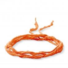 Thomas Sabo X0147-162-8 Charm-Seidenband Kette Armband Orange 100 cm