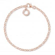 Thomas Sabo X0243-415-40 Charm-Armband Damen Sterling-Silber Roségold