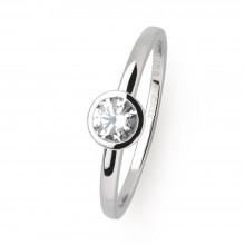 Xenox XS7279 Ring Damen Silver Circle Zarge Zirkonia Ø 4,5 mm Silber