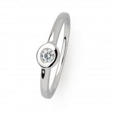 Xenox XS7388 Ring Damen Silver Circle Z Zirkonia Ø 3 mm Silber