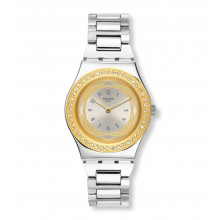 Swatch YLS210G Armbanduhr Senora Analog Quarz mit Edelstahl Armband Ø 33,00 mm
