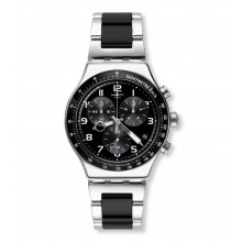 Swatch YVS441G Armband-Uhr Speed Up Analog Quarz mit Edelstahl-Band