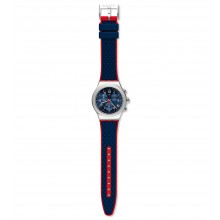 Swatch YVS452 Armbanduhr Secret Operation Analog Quarz mit Gummi Armband Ø 43,00 mm