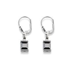 Coeur De Lion 0094/20-1700 Ohrringe Swarovski® Kristalle GeoCUBE® Silber