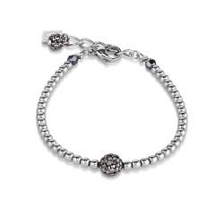 Coeur de Lion 0112/30-1223 Armband Damen Kristalle Pavé Hämatit