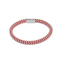 Coeur de Lion 0116/31-0317 Armband Metall Geflochten Silber Rot