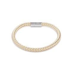 Coeur de Lion 0116/31-1617 Armband Metall geflochten Gold-Silber