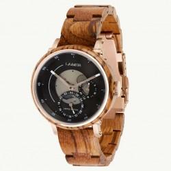 Laimer 0158 Damen Holzuhr Nele Limited Edition Quarz Zebranoholz-Armband
