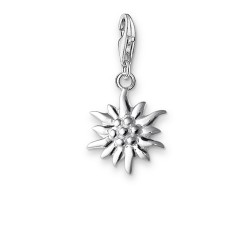 Thomas Sabo 0163-001-12 Charm-Anhänger Edelweiss Sterling-Silber