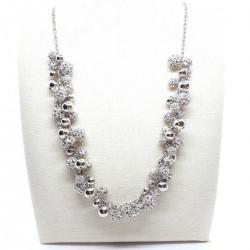 Karat 03/3644/1/082 Halskette Damen Zirkonia Weiss Sterling-Silber