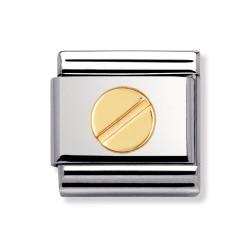 Nomination 030110/16 Charm Classic Gold Schraube