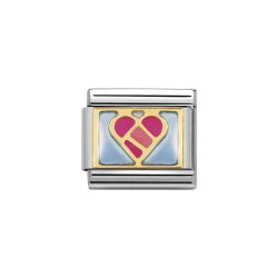 Nomination 030253/13 Charm Classic Gold Love Herz Emailliert
