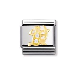 Nomination 030302/09 Charm Gold Sternzeichen Schütze Zirkonia