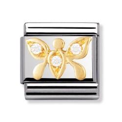 Nomination 030303/11 Charm Classic Gold Schmetterling Zirkonia