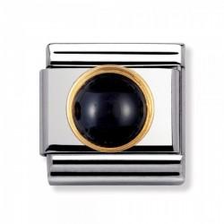 Nomination 030503/02 Charm Classic Gold Schwarzer Achat