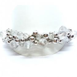 Karat 04/1773/1/082 Armband Damen Facettierte Beads Weiss Sterling-Silber