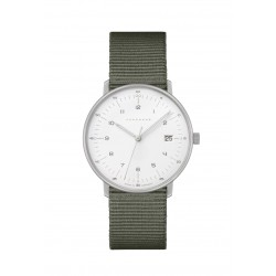 Junghans 047/4051.04 Damen-Uhr Max Bill Analog Quarz mit Textil-Band
