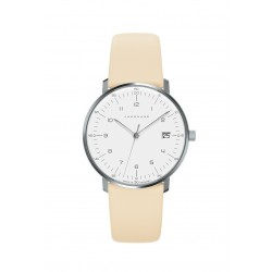 Junghans 047/4252.04 Damen-Uhr Max Bill Analog Quarz mit Leder-Band