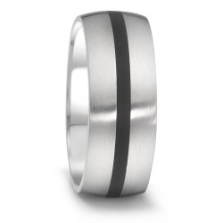 TeNo 064.2600.D50 Partner-Ring Tamor Satin Keramik Silber-Ton Gr. 60