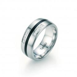 TeNo 064.26P01.D50 Brillant Partner Ring Keramik Edelstahl Gr. 54