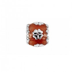 Lovelinks 11821592–97 Charm Element Kleeblatt Sterling-Silber Orange