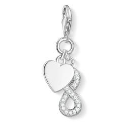 Thomas Sabo 1248-051-14 Charm-Anhänger Herz mit Infinity Silber