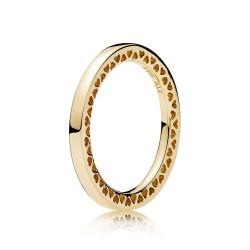 Pandora 156238 Ring Klassische Unendliche Herzen 14 K Gold Gr. 54