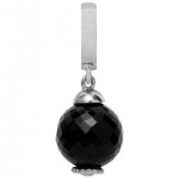 Endless 31453 Charm-Anhänger Black Passion Onyx Silber