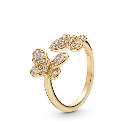 Pandora Shine 167913CZ Ring Dazzling Butterflies Silber-Gold Gr. 60