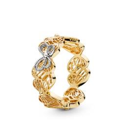 Pandora Shine 167947 Ring Damen Openwork Butterflies Silber-Gold