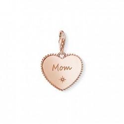 Thomas Sabo 1687-416-40 Charm-Anhänger Herz Mom Mum Rosé Muttertag