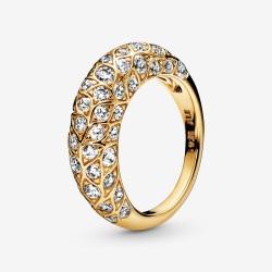 Pandora Shine 168746C01 Ring Damen Sparkling Pattern Vergoldet